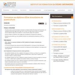 Formation au diplôme d'Etat d'auxiliaires de puériculture - IFSI - Institut de Formation en Soins Infirmiers