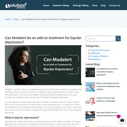 Auxiliary use of Modalert for bipolar depression patients