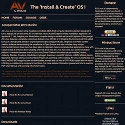 AV Linux - Install...Create...