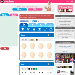 Free Anime Avatar Maker - Avachara is a web app that can be creative cartoon character.