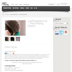 avaElongated Hat – Free Knitting Pattern