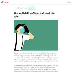 The availability of Best N95 masks for sale
