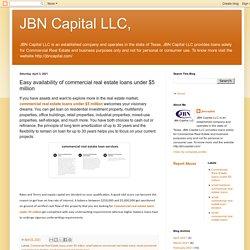 JBN Capital LLC,: Easy availability of commercial real estate loans under $5 million