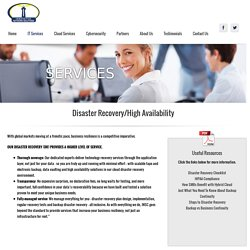 Disaster Recovery/High Availability
