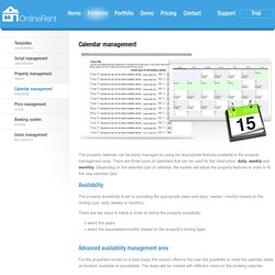 Property rental script - online availability calendar and booking engine - Calendar management