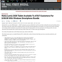 Nokia Lumia 2520 Tablet Available To AT&T Customers For $199.99 With Windows Smartphone Bundle