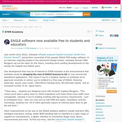 STEM Academy: EAGLE software now available free...