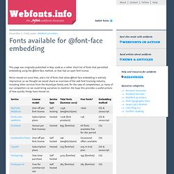 Fonts available for @font-face embedding - Webfonts.info