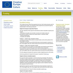 Available funding - The European Cultural Contact Point Ireland
