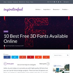 10 Best Free 3D Fonts Available Online