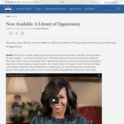 Now Available: A Library of Opportunity