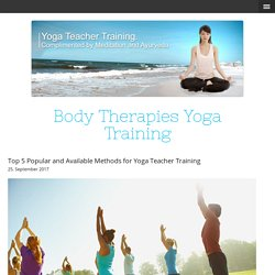 Top 5 Popular and Available Methods for Yoga Teacher Training