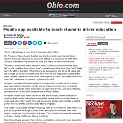 Mobile app available to teach students driver education