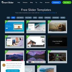 Available free slider templates — Smart Slider 3 — WordPress Plugin