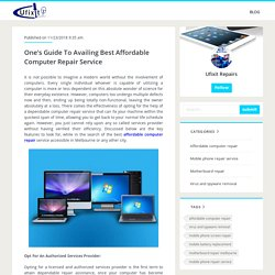 One's Guide To Availing Best Affordable Computer Repair Service