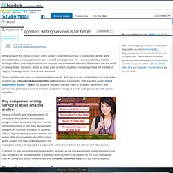 User blog:Studentsassignmenthelp/Availing assignment writing services is far better than cheating
