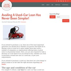 Availing A Used-Car Loan Has Never Been Simpler!