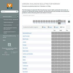 Avalanche bulletins - Varsom