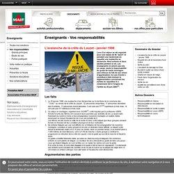 L'avalanche de la crête du Lauzet - janvier 1998