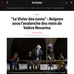 """""""Le Vivier des noms"""" : Avignon sous l'avalanche des mots de Valère Novarina"""