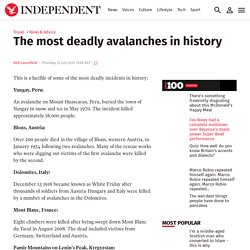 The most deadly avalanches in history