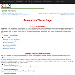 Avalanches Theme Page