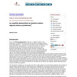 Estudos Avançados - La cuestión democrática en América Latina: algunos temas y problemas