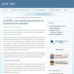Le RGPD : une timide avancée pour la protection des données