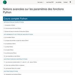 Notions avancées sur les paramètres des fonctions Python - Pierre Giraud