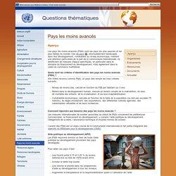 Pays les moins avancés - Questions thématiques - Nations Unies