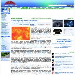 Avant le Big Bang: l'amnésie de l'Univers...