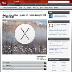 Prise en main d'Apple OS X Yosemite : le test