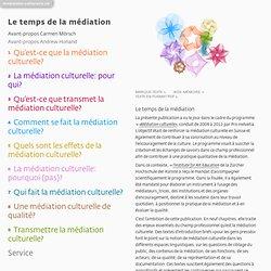 Le temps de la médiation, publication de référence suisse (en ligne)