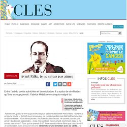 Avant Rilke, je ne savais pas aimer Fabrice Midal