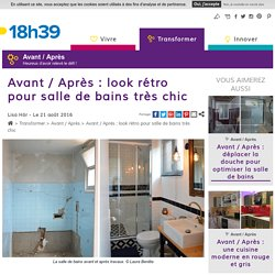 Avant/après : salle de bains au look rétro - Aménager une petite salle de bains