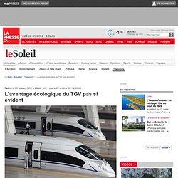 L'avantage écologique du TGV pas si évident