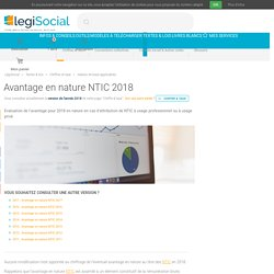 Avantage en nature NTIC 2018 2017 2016 2015 2014 2013 2012 2011