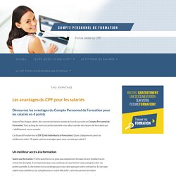 avantage Archives - Compte Personnel de Formation