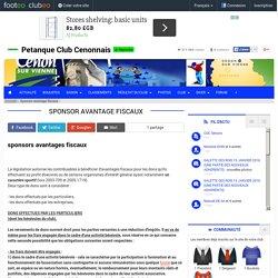 Sponsor avantage fiscaux - club Pétanque Petanque Club Cenonnais - Clubeo