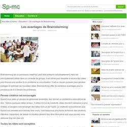 Les avantages de Brainstorming / Éducation et travail