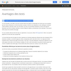 Avantages des tests - Centre d'aide Google Analytics