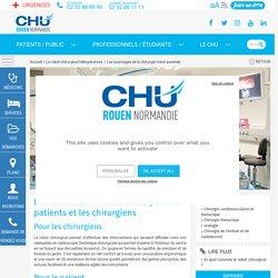 Les avantages de la chirurgie robot assistée - CHU de Rouen