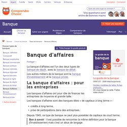 Banque d'affaires
