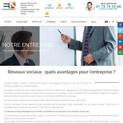 Réseaux sociaux : quels avantages pour l'entreprise ? « Evolution Net