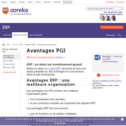 Avantages ERP : logiciel PGI - ComprendreChoisir