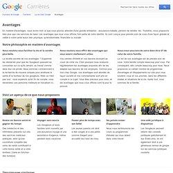 Avantages - Google Carrières