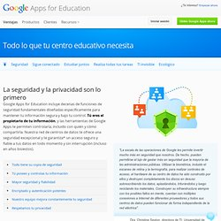 Security & Privacy – Google Apps for Education