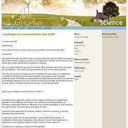 avantages et inconvenients des OGM - science