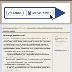 Les avantages des réseaux sociaux - Site de jaimemavieprivee !