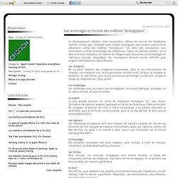 """Les avantages et limites des mobiles """"écologiques"""" - Le blog Hi-Tech de Chonch"""
